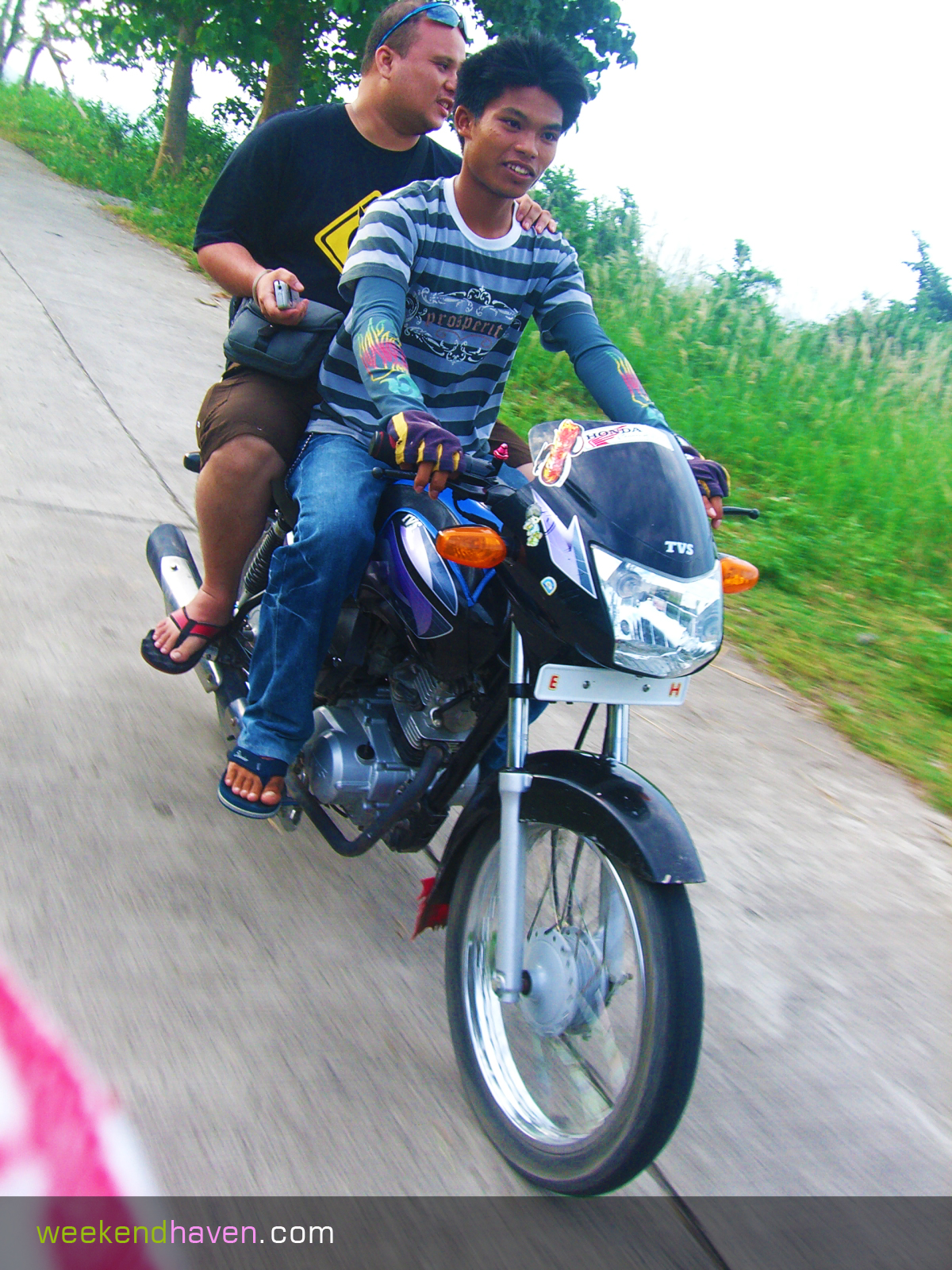 habal habal ride in negros