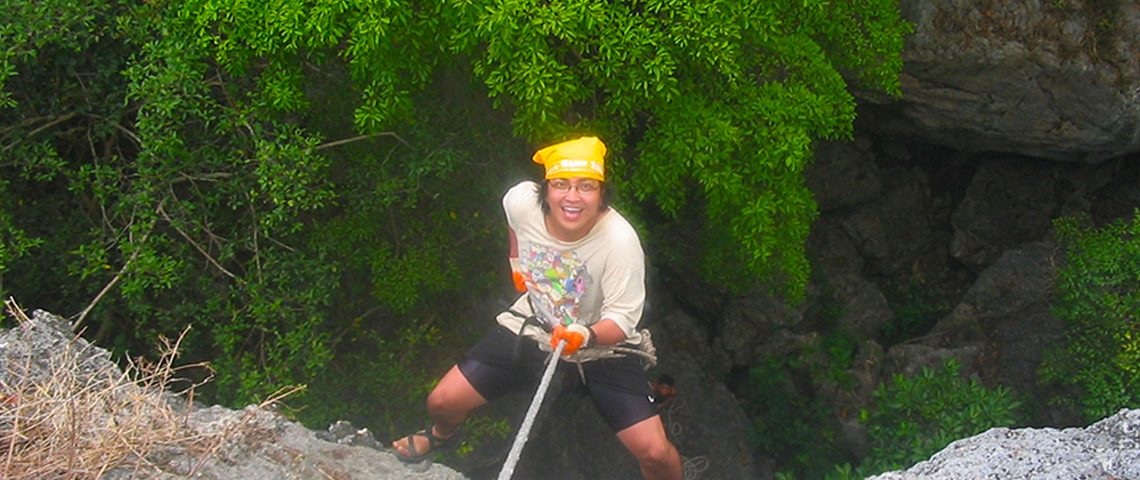 Rappelling at Madlum