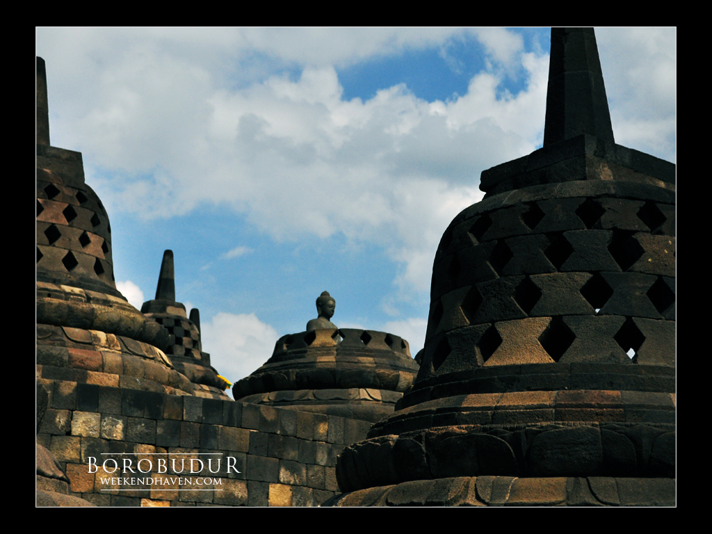 Borobudur Stupa, Java, Indonesia