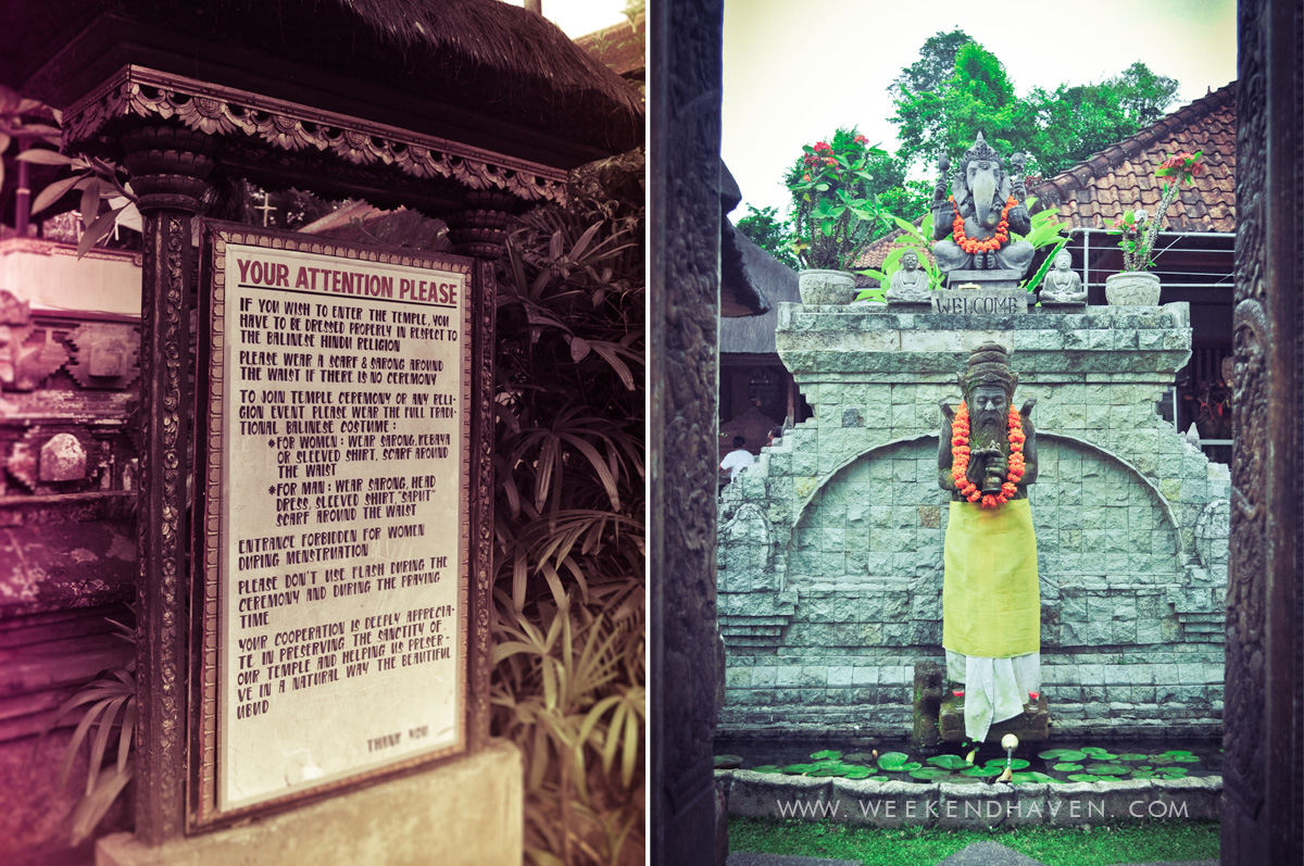 Shrines and Temples at Ubud Bali