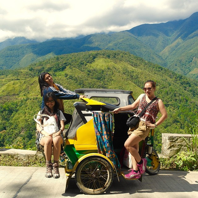 Our VIP Ride. Philippine-style. Brings you to this stunning view. #banaue