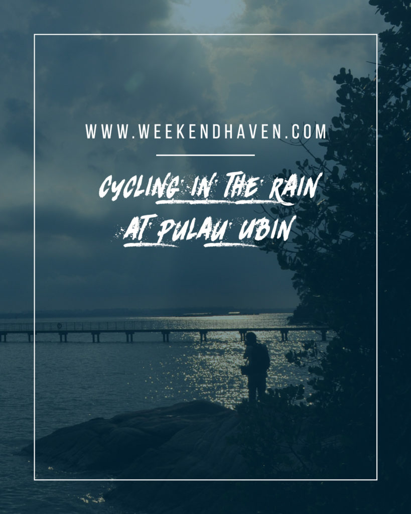 Cycling in the Rain at Pulau Ubin