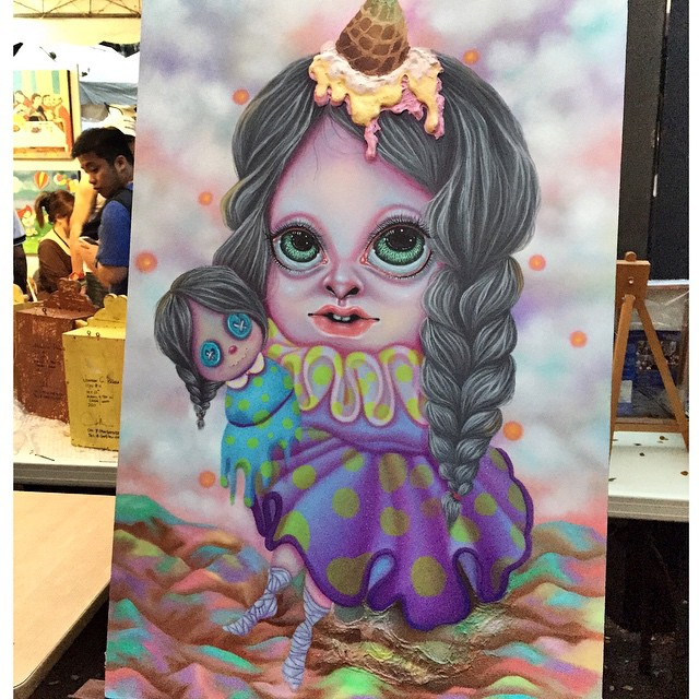 Charming! I will be back with a fat wallet to bring you home. Hang in there pretty little ice cream girl. ? #artintheparkph