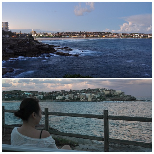 Two years ago today. You asked me to take a break and just sit here for a while. Autumn in Sydney, you, me and sunset over Bondi beach, in this perfect spot. Another lovely day, let's do more of this.