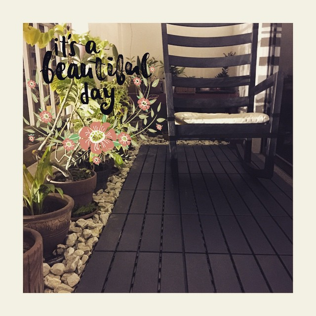 Weekend Project: Secret Garden. Lovin' the new deck tiles from @casadev ❤️