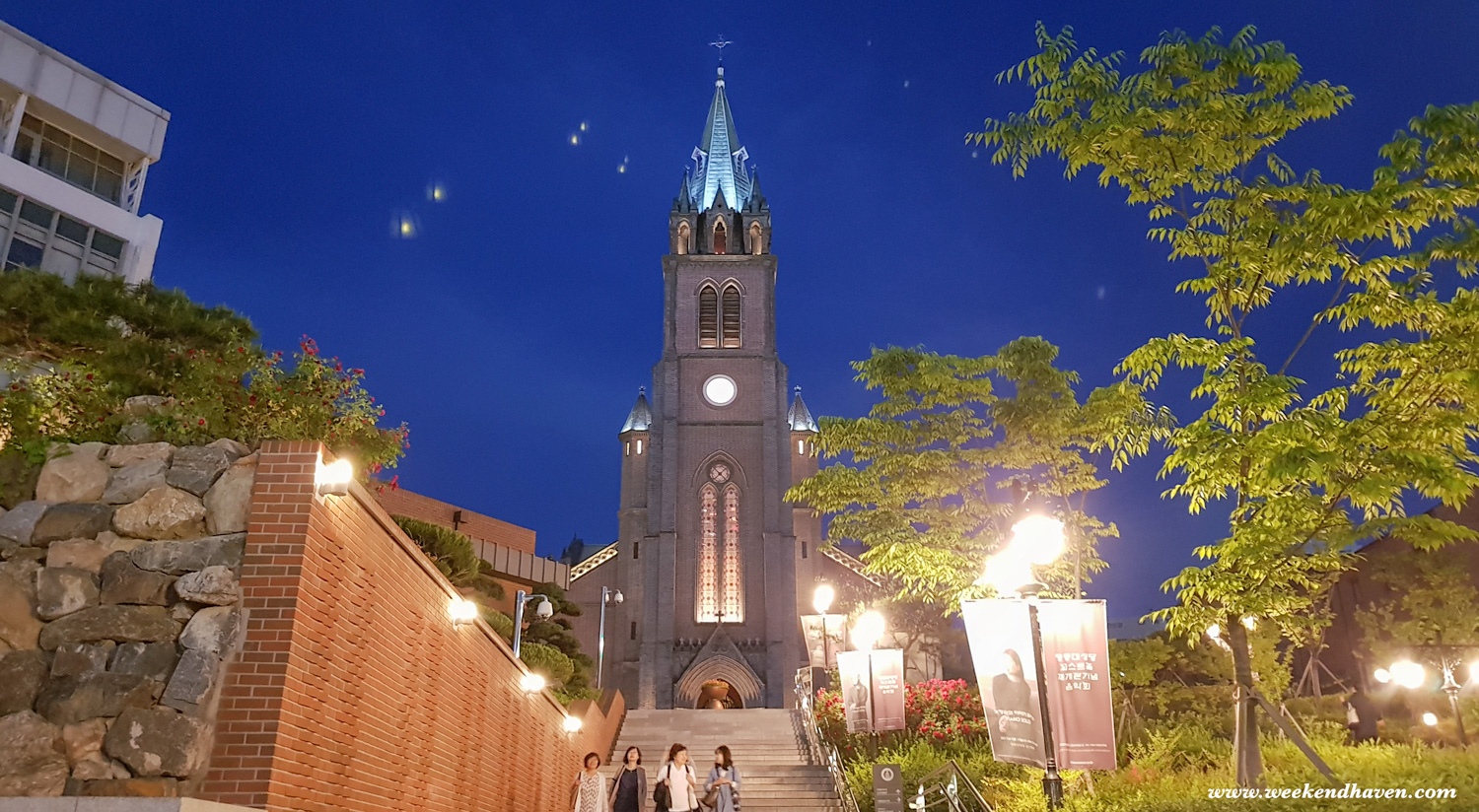Myeongdong Cathedral at Night