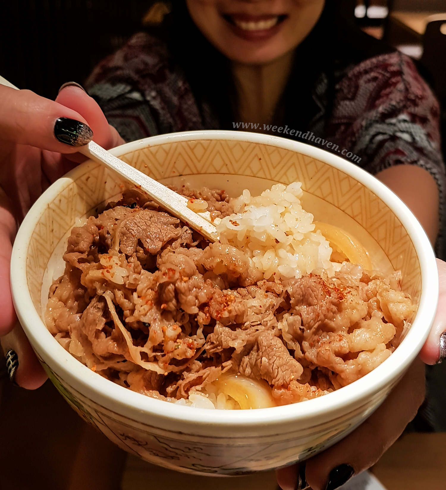 Authentic Gyudon in Osaka