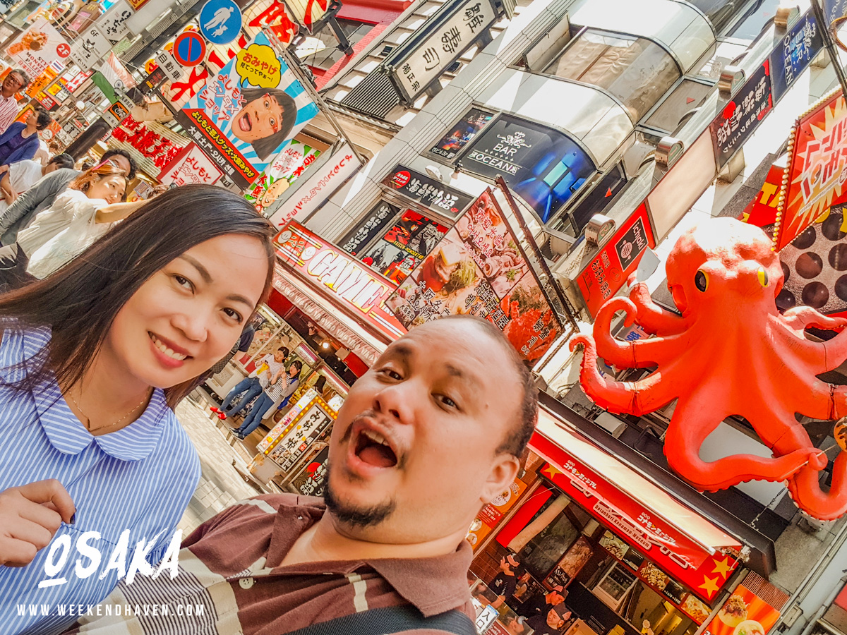 Walking around Dotonbori Osaka